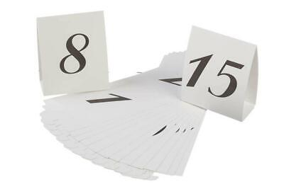 Wedding Table Tent Numbers Place Card Holder NEW- Numbers 1 - 15 reception party