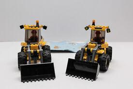 2 X Lego city 7630 front end loader