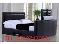DOUBLE GAS LIFT STORAGE OTTOMAN TV BED FRAME £299