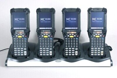 Lot Of 4 Symbol Mc9190-gj0sweqc6wr Barcode Scanner Condensation Resistant