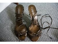 Ladies copper coloured sandals size 7 UK