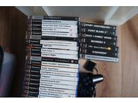 70 Playstation PS2 Games + 7 Playstation 1 Games + Lightgun + Controller + Eyetoy Camera