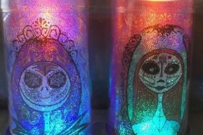 Day Before Halloween (RARE! Nightmare Before Christmas LED Candle Jack Sally Day Of The Dead)