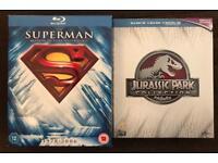 Blu Rays Superman Anthology & Jurassic Park Collection