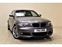 BMW 1 SERIES 2.0 118D M SPORT 2d 141 BHP + AIR CON + AUX + LEAT (grey) 2011