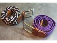 Men's elasticated belts