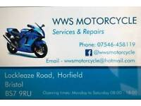 WWS Motorcycle garage Bs79ru