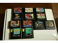 UNBOXED 12X Sega mega drive games