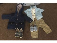 Baby boy clothes size (3-6) beautiful clean
