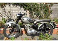 1957 TRIUMPH TIGER CUB. CLASSIC MOTORCYCLE