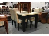 ** HEAVY SOLID OAK DINING TABLE **