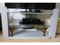 Large TV Stand with glass shelf