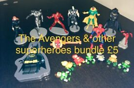 The Avengers & other superheroes toys