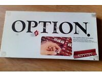 Vintage Option Board Game 1985 by Parker - Crosswords, Double Sided as Scrabble