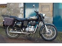 Royal Efield Bullet EFi. 500. Includes panniers.