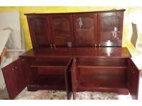 Rosewood 8-door Display Cabinet/Dresser With Internal Light *Price Reduction*