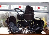 iCandy Peach Complete Travel System in Black with Accessories