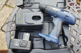"""""""Power Craft"""" Cordless Drill & charger - 18v"""