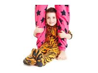 Boys Tiger Onesie Size 5 6 Years Pjs Thick Warm Fleece Character Pajamas