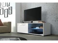NEW !!! MODERN HIGH GLOSS TV UNIT / TV STAND ENTERTAINMENT / HIGH QUALITY FLATPACK