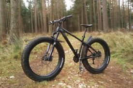 Beautiful Rocky Mountain Blizzard Fat Bike - Medium - Upgraded - UK Courier Available
