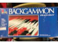 MB Backgammon And Acey Deucy Board Game Set