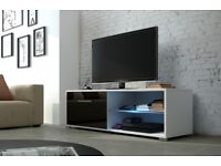 NEW ! MODERN HIGH GLOSS TV UNIT / TV STAND / ENTERTAINMENT UNIT / HIGH QUALITY / FLAT PACK / NEW