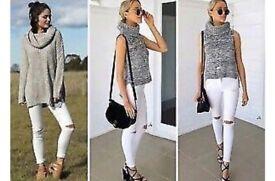 New Women's Stretch Ripped Skinny High Waist Denim Pants Jeans, 12