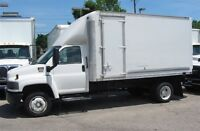 2008 GMC C-5500 2wd diesel with 13 ft plus box X2
