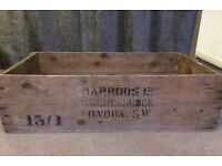 VERY old Harrods Wooden crate
