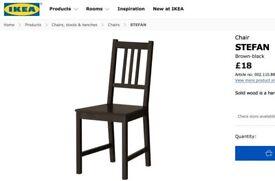 STEFAN Chair brown-black IKEA
