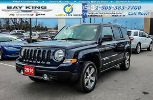 2016 Jeep Patriot HIGH ALTITUDE, 4X4, SUNROOF, HTD LEATHER, BLUE
