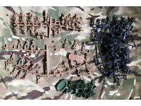 AIRFIX 1/72 SOLDIERS GERMAN US ARMY WW2 SECOND WORLD WAR PLASTIC SCALE MODEL FIGURES MILITARY WWII