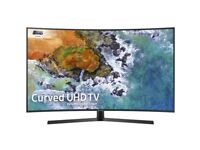 "Samsung UE49NU7500 Curved 49"" HDR 4K UHD Smart TV, TVPlus/Freesat HD, Dynamic Crystal Colour Black"