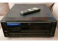 Sony DVP-CX850D DVD Player - 200 disc carousel, remote control, chipped for region-free playback
