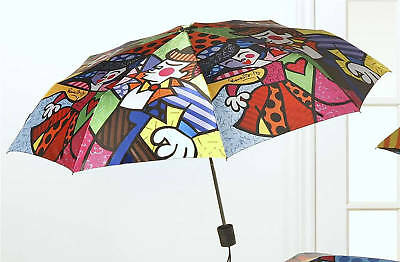"Romero Britto Folding Travel Umbrella ""SWING"" New Item"