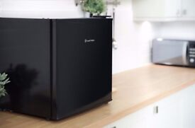 Black tabletop fridge