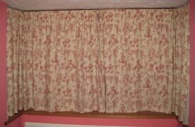 Fully Lined Bay Window Curtain