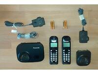 Panasonic Twin Handset Cordless Home Phones KX-TG7301E