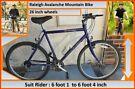 Raleigh Avalanche Bike. 15 speed. 26 inch wheels.