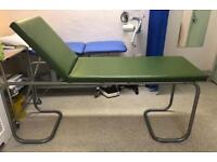 Medical couch with adjustable backrest