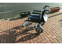 Collapsable wheelchair 5 years old in perfect condition