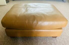 SiSi Italia Tan Leather Footstool