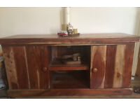 Solid handmade Acacia TV Stand RRP £699