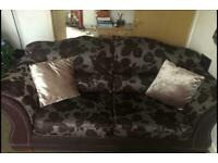 Large 2 seater sofa with armchair
