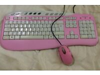 Saitek PINK Keyboard + Mouse