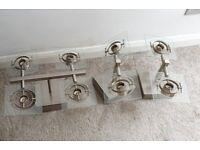 Ikea Fuga Brushed Steel Ceiling Spotlights x 3