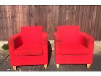 Tub chairs x2 office furniture