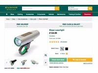 BLAZE Laserlight - NEW IN BOX. Bike laser for road safety. £100