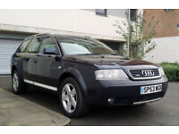 2003 53 AUDI A6 2.5 TDI QUATTRO ALLROAD ESTATE, 1 OWNER, FULL HISTORY, MOT SEPT 17, ONLY 97k MILES